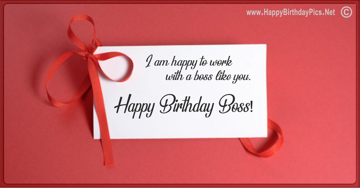Happy Birthday Boss - A Card With Ribbons Funny Card Equivalents