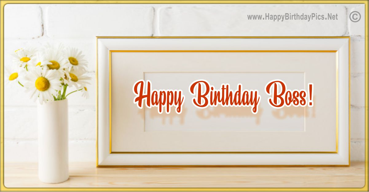 Happy Birthday Boss - Many Daisies and Blessings Funny Card Equivalents