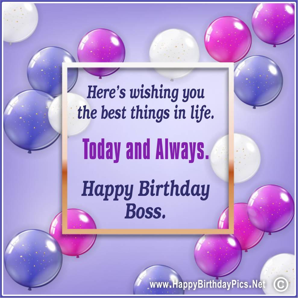 Happy Birthday Boss!