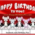Piano Mouse and Pianist Mice Play Happy Birthday Song