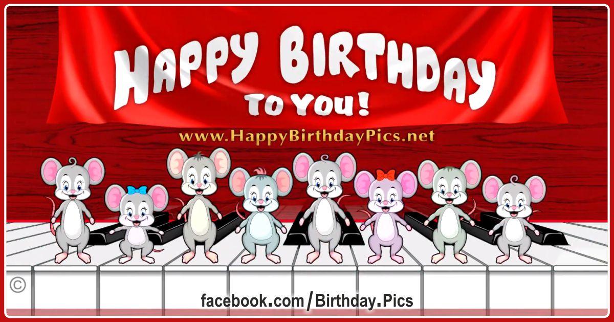 Pianist Mice Happy Birthday - 2