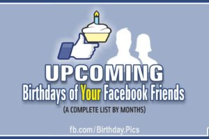 Upcoming Birthdays List on Facebook