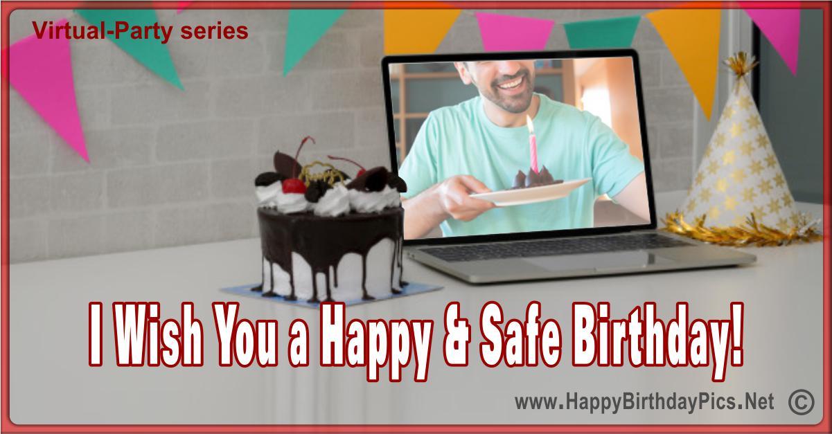 Virtual party, online birthday celebration cards